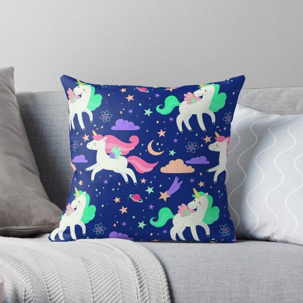 Flying Unicorns Throw Pillow