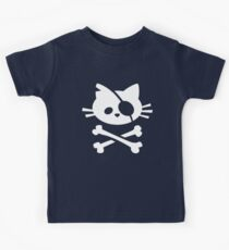 Pirate Cat: Skull and Crossbone Kids Tee