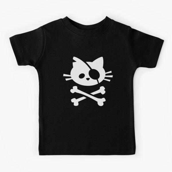 Cute Pirate Cat: Skull and Crossbone Kids T-Shirt