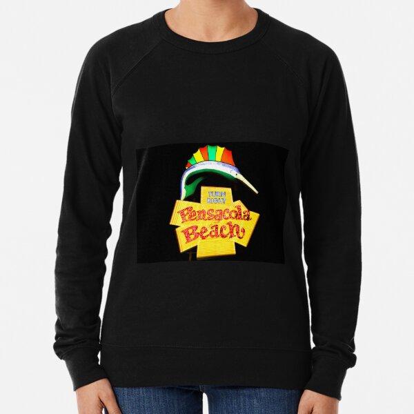 Pensacola Beach Sign Lightweight Sweatshirt
