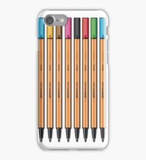 Row of Stabilo Pens iPhone Case/Skin