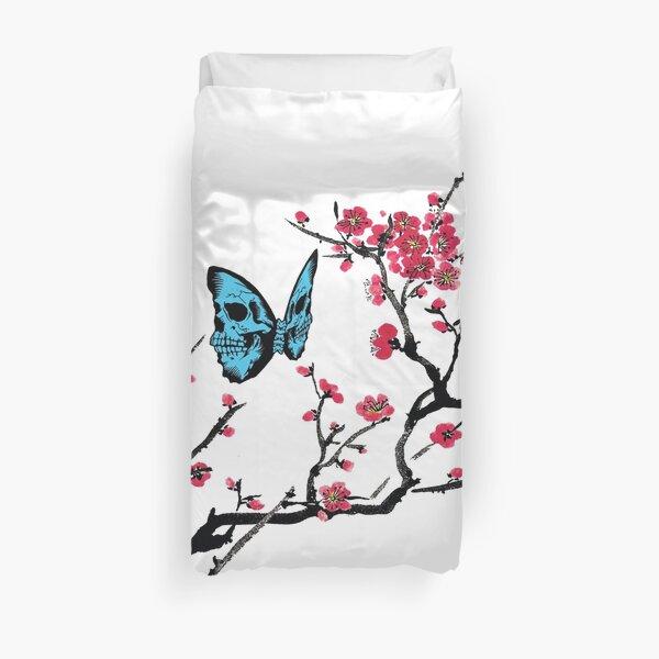Skullerfly Cherry Blossom Duvet Cover