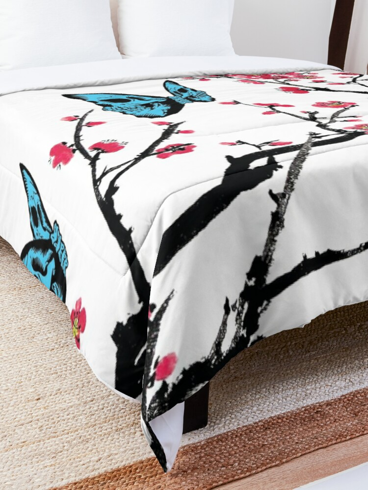 Alternate view of Skullerfly Cherry Blossom Comforter