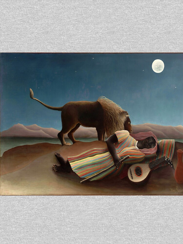 Henri Rousseau's The Sleeping Gypsy by mosfunky