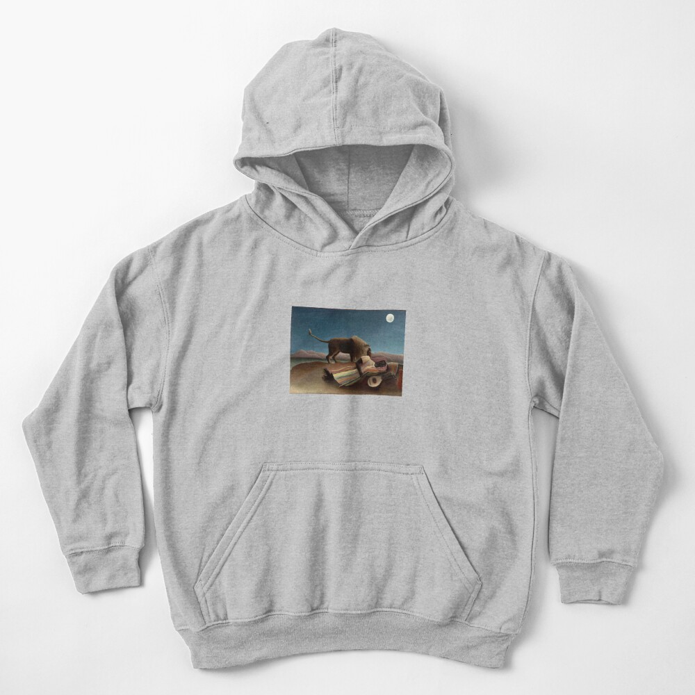 Henri Rousseau's The Sleeping Gypsy Kids Pullover Hoodie