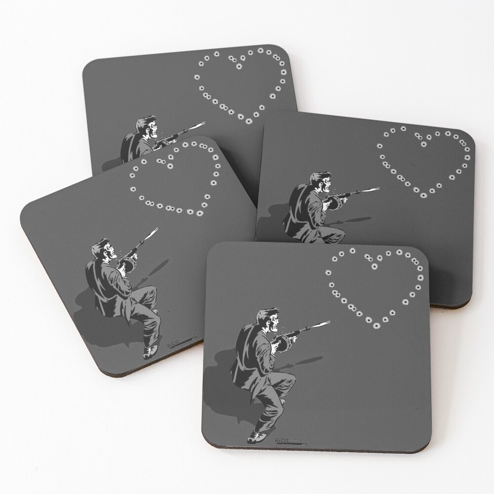 44 Calibre Love Letter Coasters (Set of 4)