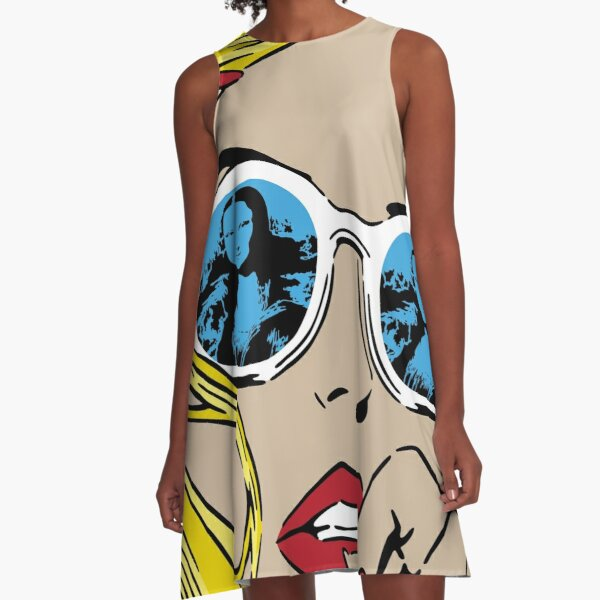 Mona Lisa Reflections Blonde A-Line Dress