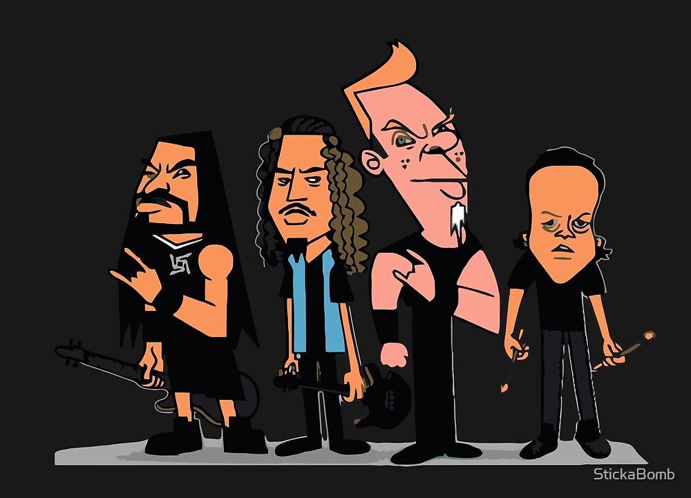 Metallica Cartoon by StickaBomb