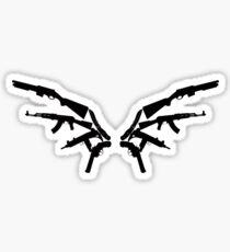 Gun Wings Sticker