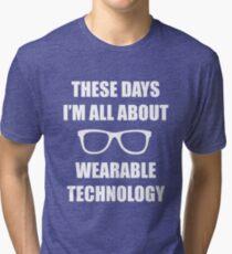 Sonic Sunglasses - White Tri-blend T-Shirt