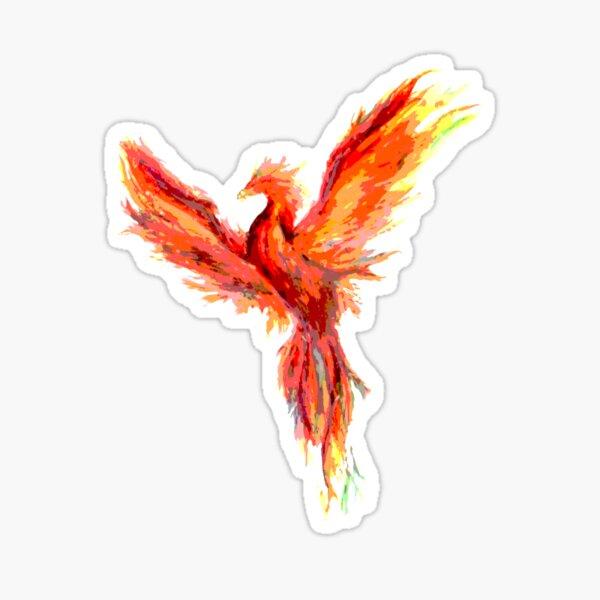 Posterized phoenix Sticker