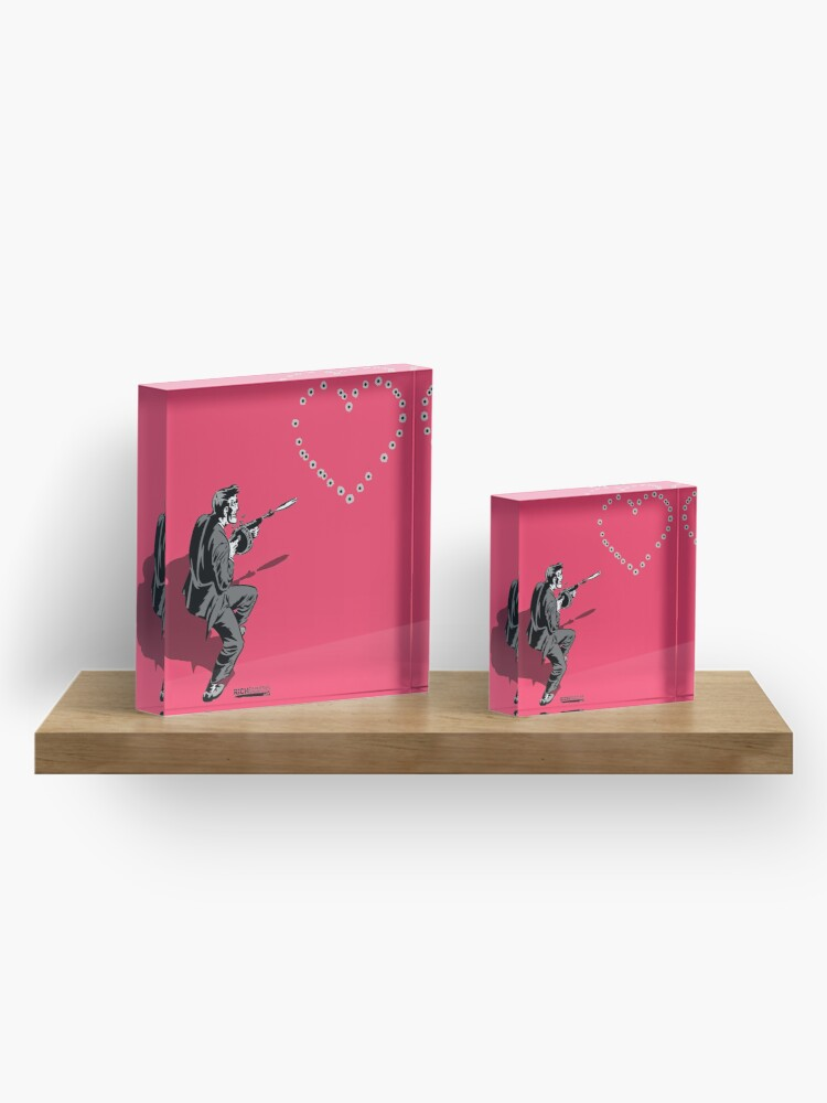 Alternate view of 44 Calibre Love Letter Pink Acrylic Block