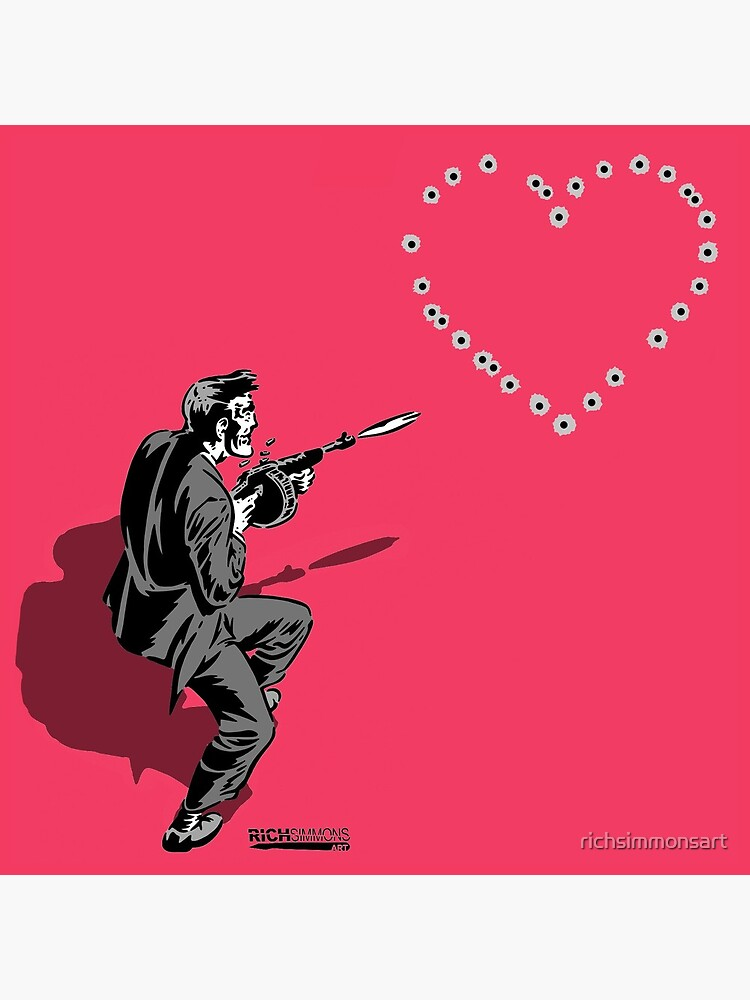 44 Calibre Love Letter Pink by richsimmonsart