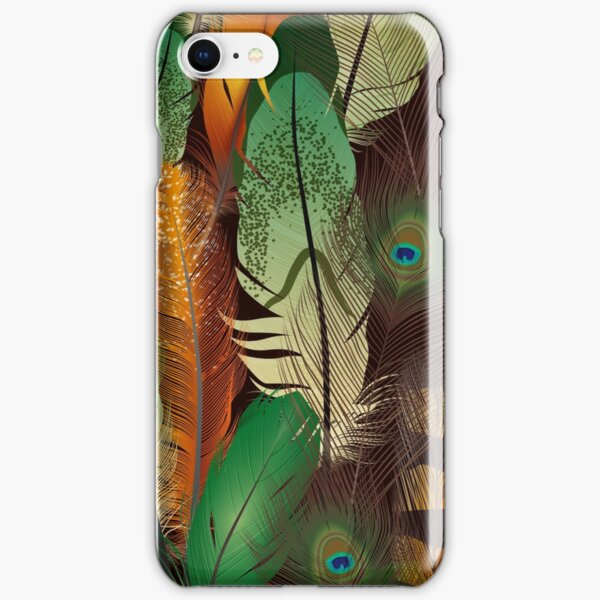 Peacock feathers iPhone Snap Case