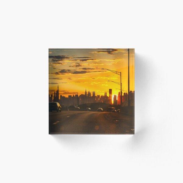 Highway to Manhattan Acrylic Block
