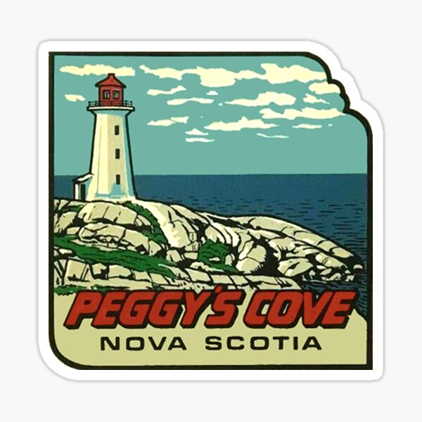 Peggys Cove Nova Scotia Vintage Travel Decal Sticker