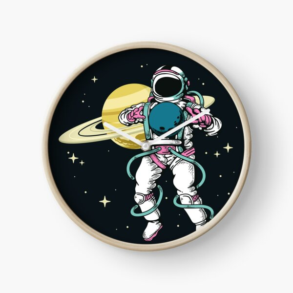 Astronaut in space Clock
