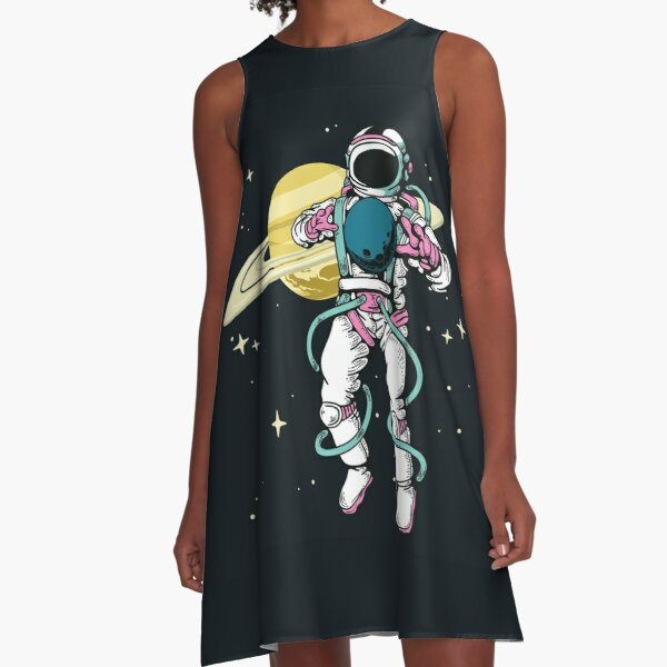Astronaut in space A-Line Dress