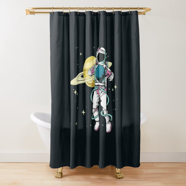 Astronaut in space Shower Curtain