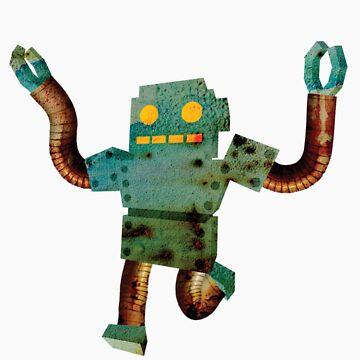 Rusty the retarded robot  by MrHoisington