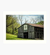 Kentucky Barn Quilt - Mariners Compass Art Print