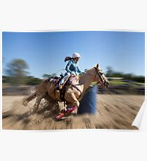 Barrel Racing Poster