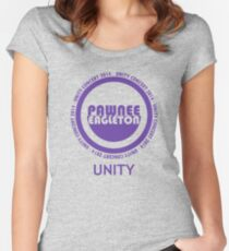 Pawnee-Eagleton unity concert 2014 Women's Fitted Scoop T-Shirt