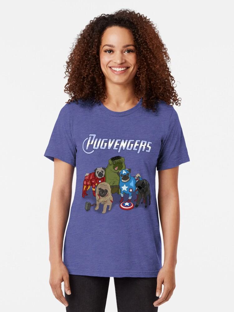 Vista alternativa de Camiseta de tejido mixto Los Pugvengers