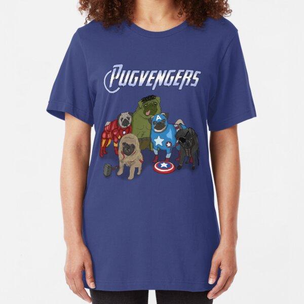 Die Pugvengers Slim Fit T-Shirt