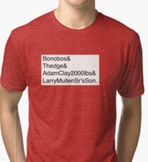 U2: Band Member Names Tri-blend T-Shirt