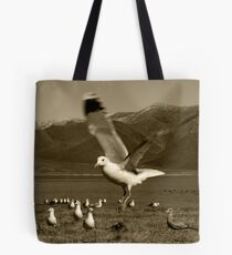 Just Hanging Around (In Sepia) Tote Bag