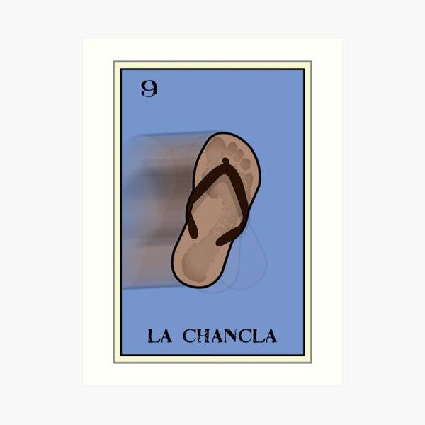 La Chancla Loteria Design Art Print