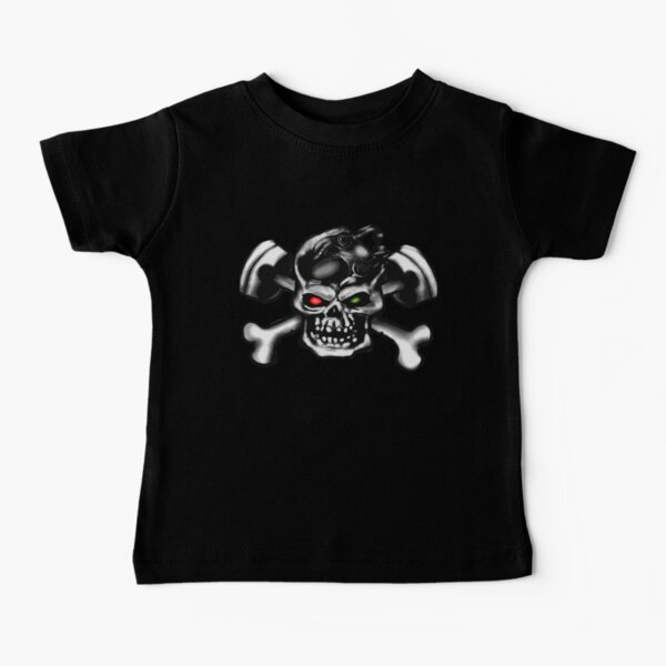 WABAODAN Soulfly Infant Kids Cute Short Sleeve Tshirt Black