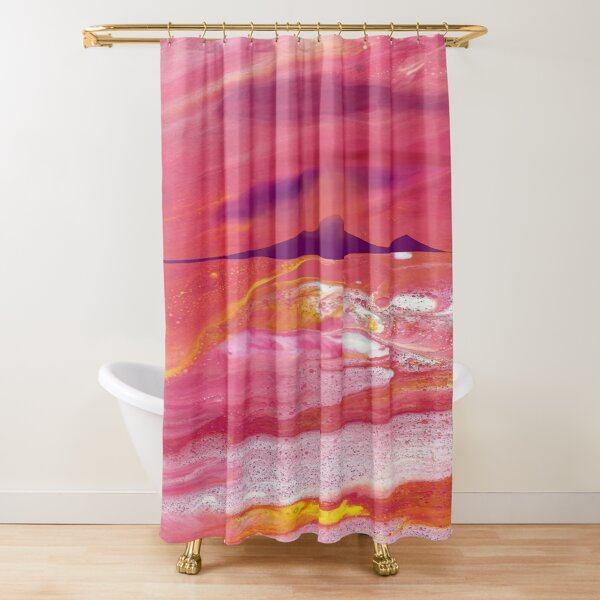 Sunset on a Sea of Love Shower Curtain