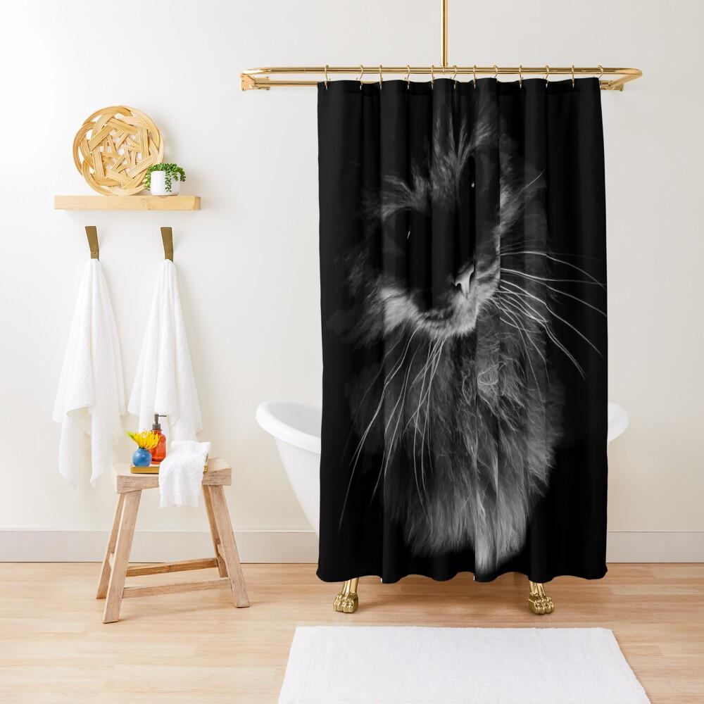 Drama Cat Shower Curtain
