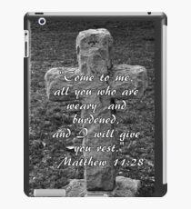 Stone Cross with Verse iPad Case/Skin