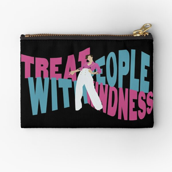 Harry Styles Fine Line Treat 'People With Kindness' Zipper Pouch