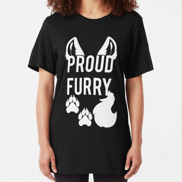 PROUD FURRY Slim Fit T-Shirt