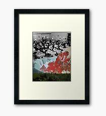 Feed them not teach them - A Critique of the American Educational System (Triptych) by Zabu Stewart Framed Print