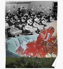 Feed them not teach them - A Critique of the American Educational System (Triptych) by Zabu Stewart Poster