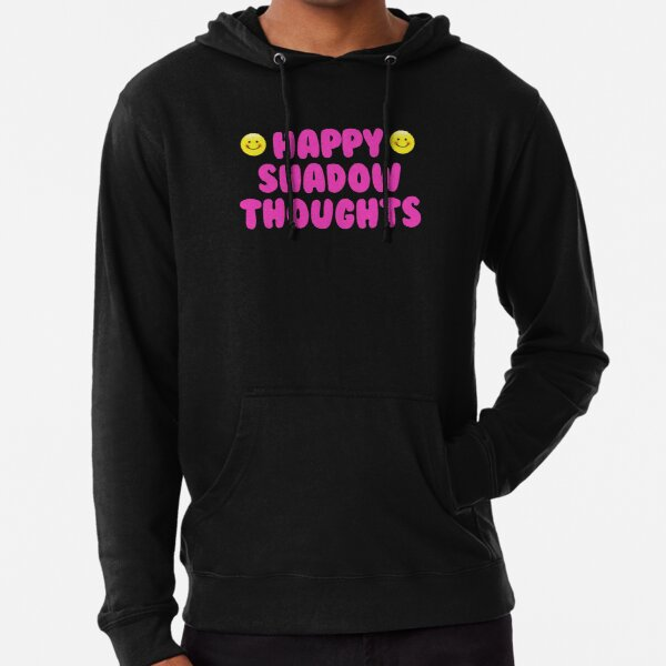 Happy Shadow Thoughts Lightweight Hoodie