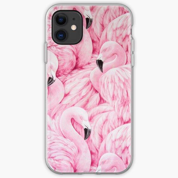 Pink Flamingo Art iPhone Soft Case