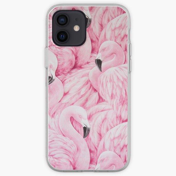 Art de flamant rose Coque souple iPhone