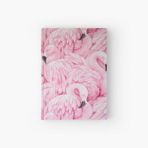 Pink Flamingo Art Hardcover Journal