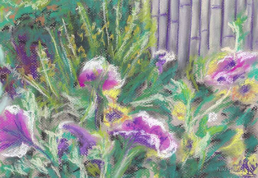 Flowers (pastel) by Niki Hilsabeck