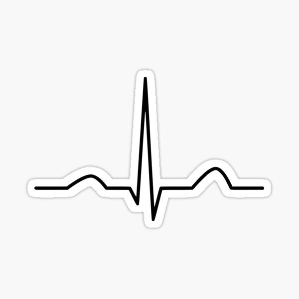 CORRECT QRS complex - EKG/ECG Sticker