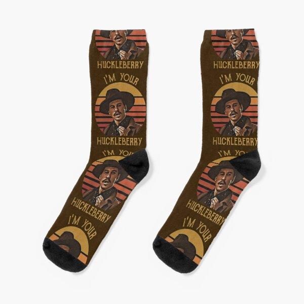 Doc Holliday Tombstone I'm Your Huckleberry Vintage Men's  Socks