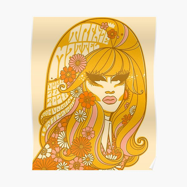 Yellow Flowers Trixie Poster