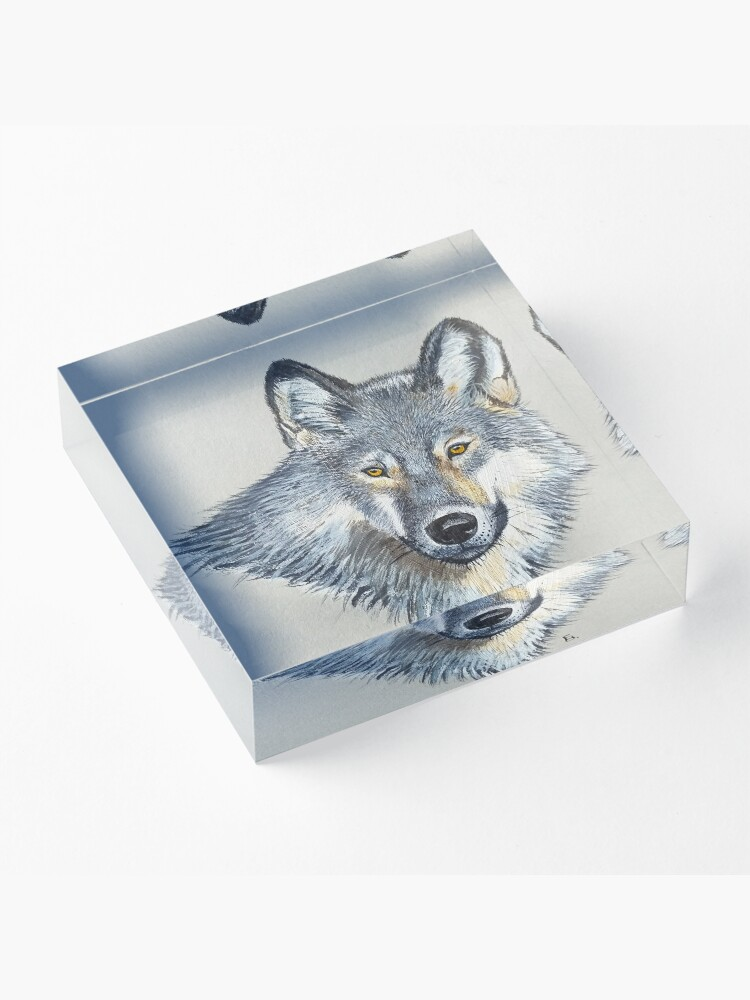 Alternate view of Wolf portrait Acrylic Block