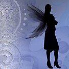Winged Dark Lady Faerie by anankeblue